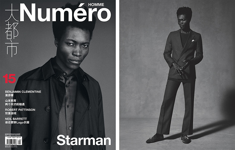 Hair by Lee Machin, Numero Homme China Ben Weller David Bradshaw Benjamin Clementine Burberry April 2016