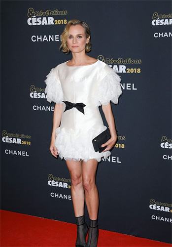 Hair by Perrine Rougemont - Diane Kruger Cesar Revelations Party 2018